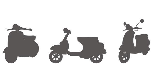 新聞配達用バイク
